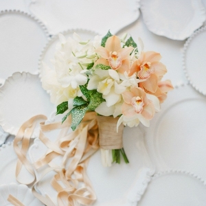 Peach and White Bouquet