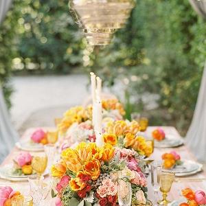 A Vibrant Spring Tablescape