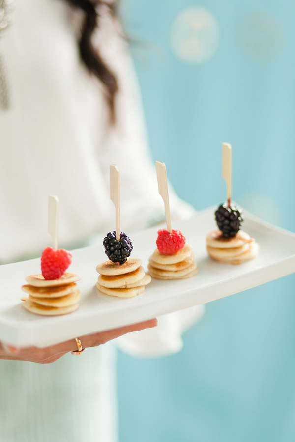 Skewers with Mini Pancakes and Berries