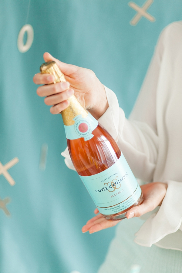 Rosé Champagne Bottle