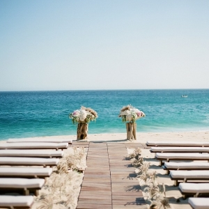 Beach Wedding Aisle and Ceremony Decor