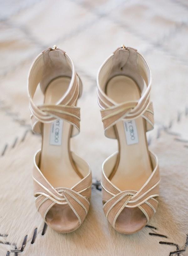 Nude Jimmy Choo Wedding Shoes