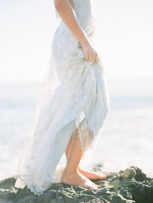 Bride In Claire Pettibone Wedding Dress