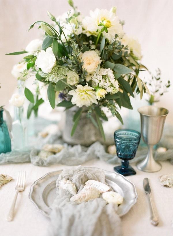 Ivory Floral Centerpiece