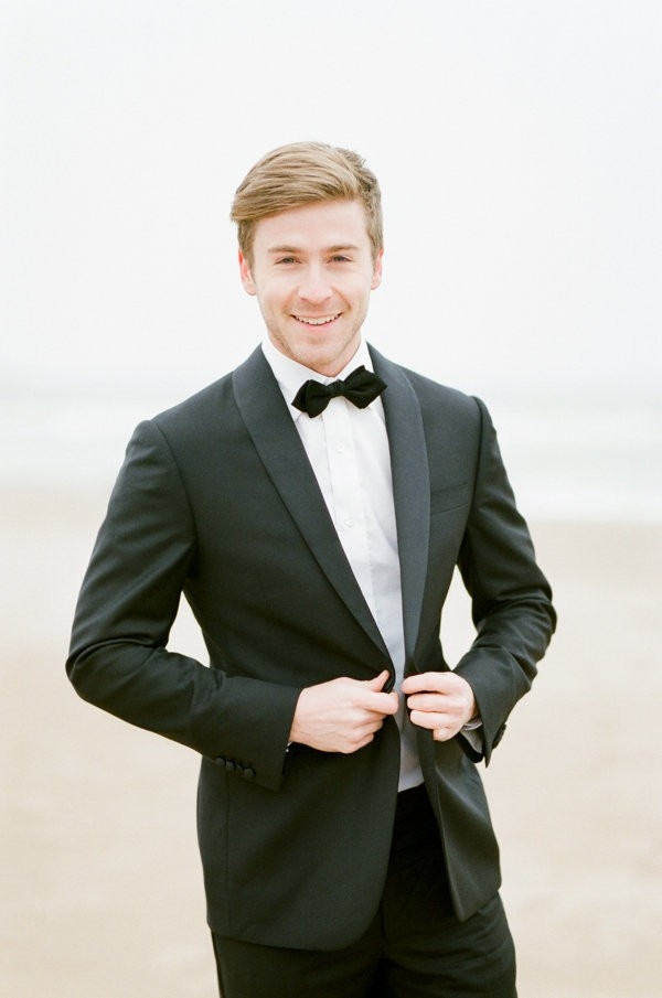 Groom in Suit and Bowtie