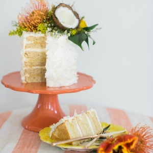 Tropical Triple Coconut Cake
