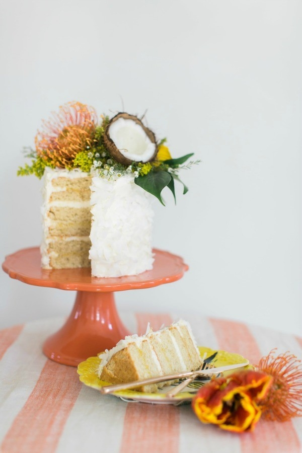 Tropical Triple Coconut Cake