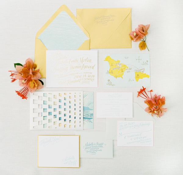 Yellow and White Invitation Suite