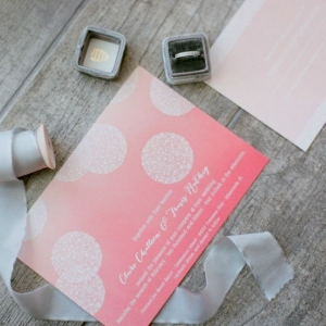 Modern Wedding Invitation Suite and Wedding Ring