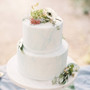 Marble-Inspired Wedding Cake