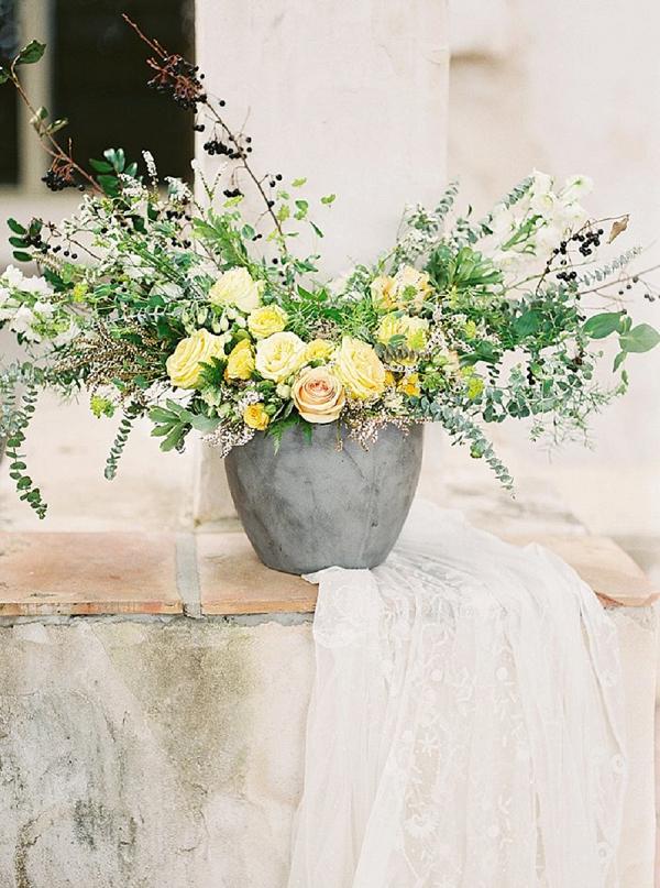 A Large Yellow Floral Arrangement