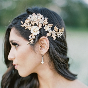 Gilded Bridal Hair Comb