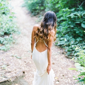 Bride in Outdoor Tropical Setting