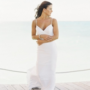 Bride in Destination Wedding Dress