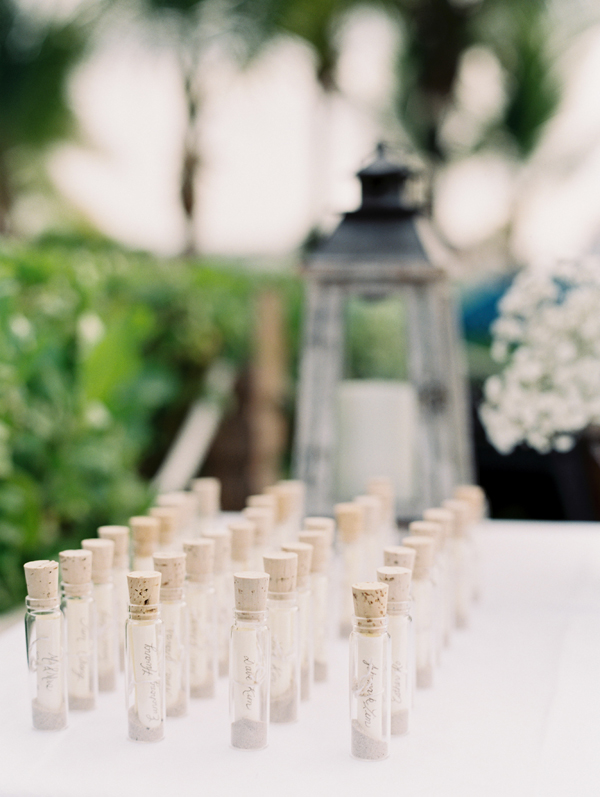 Wedding Escort Cards In Vials