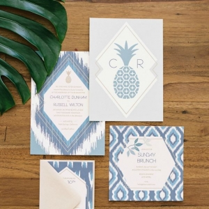 Tropical Bohemian Wedding Invitations