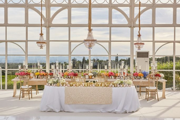 Glam tented reception