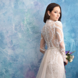 Lace back wedding dress from Allure Bridals Fall 2018
