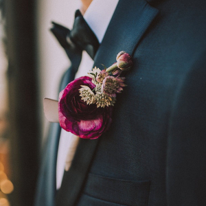 Boutonniere on Belle the Magazine