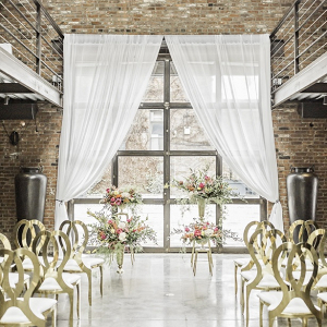 Modern glam wedding ceremony