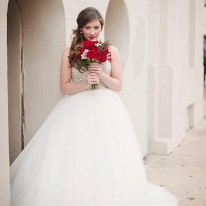 Winter Bridal Look
