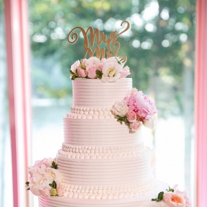 white wedding cake on Belle the Magazine