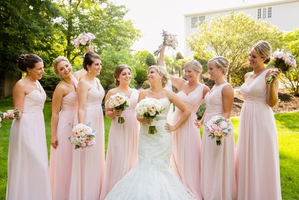 light pink bridesmaids from Belle the Magazine