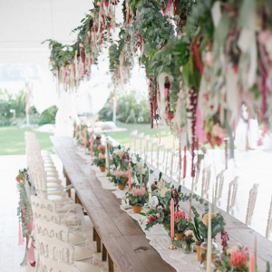 Boho wedding reception