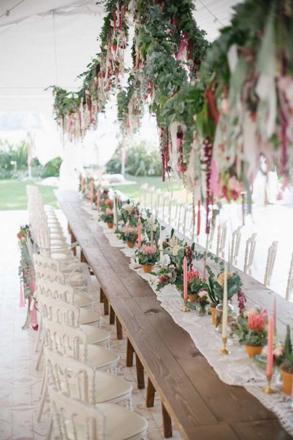 Boho wedding reception