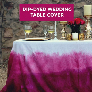 Dip-Dyed table linen