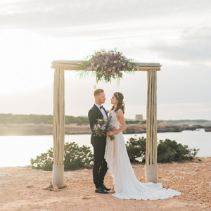 Waterside ceremony arch
