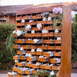 Creative wedding favor display