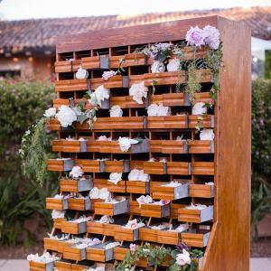 Creative wedding favor display