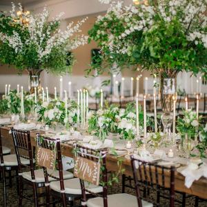 Greenery filled reception