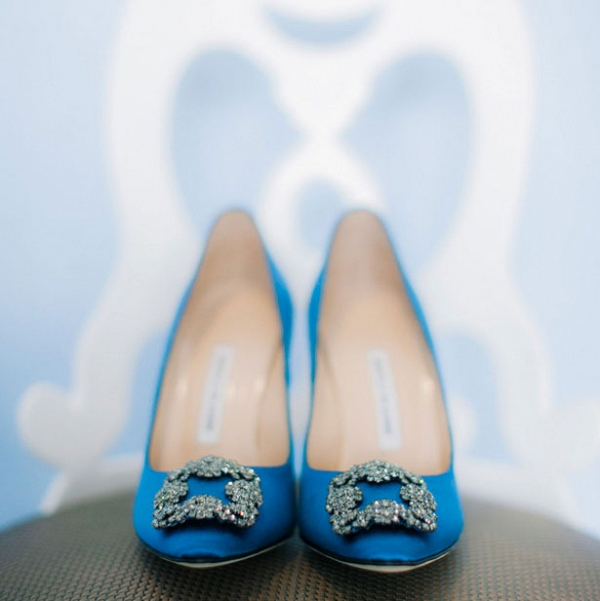 blue wedding heels