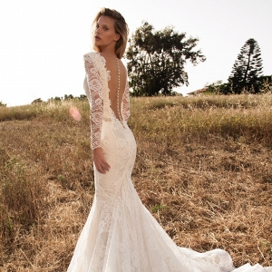 Statement back wedding dress by GALA Collection No.2 By Galia Lahav