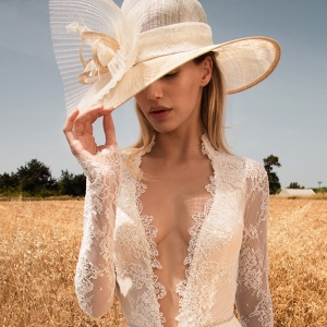 Long sleeved lace wedding dress from GALA – Collection No.2 By Galia Lahav