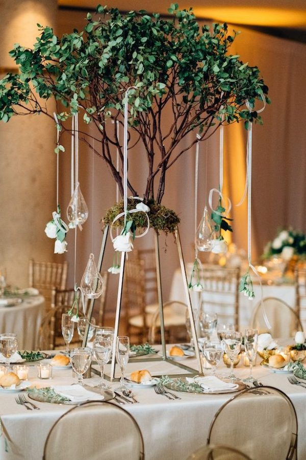 Tall tree centerpiece
