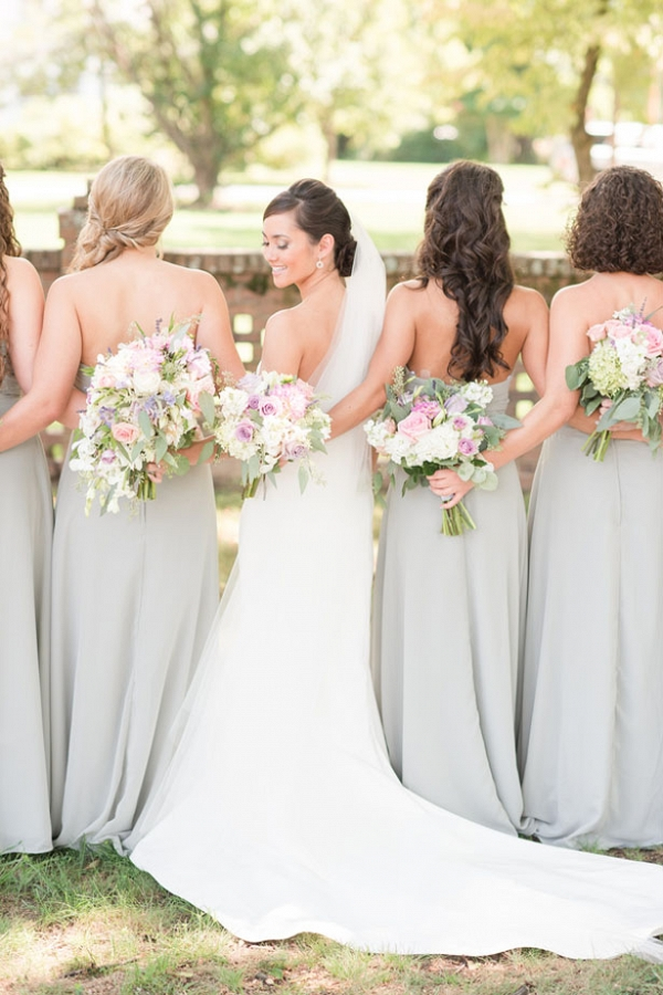 gray bridesmaid dresses on Belle the Magazine