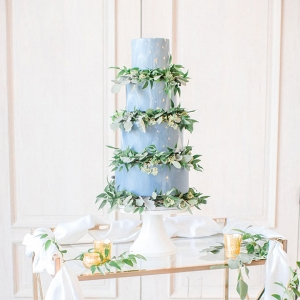 Dusty Blue Wedding Cake
