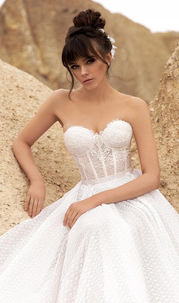 Sweetheart neckline wedding gown by Katherine Joyce
