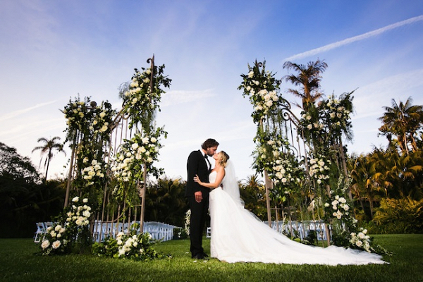 Ceremony door backdrop