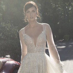 Netta BenShabu rhinestone wedding dress