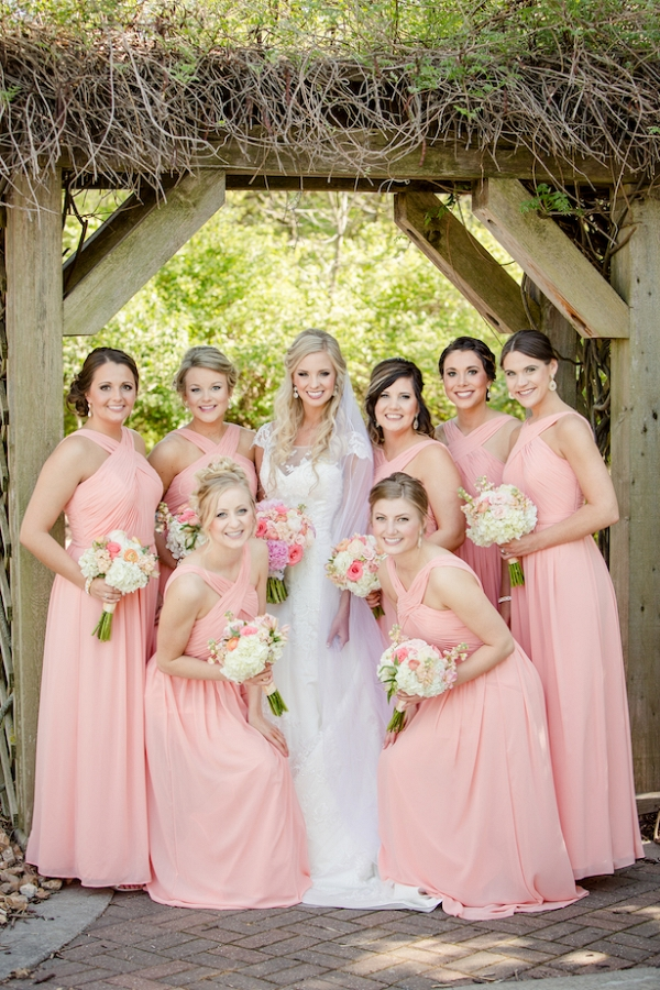 Coral and gold wedding on Belle the Magazine