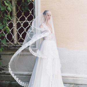 Embellished wedding dress by Eva Poleschinski Bridal Couture