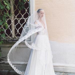 Embellished wedding dress by Eva Poleschinski Bridal Couture