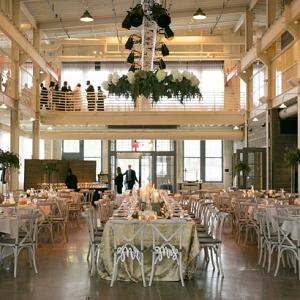 Industrial glam wedding reception