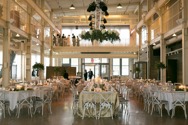 Industrial glam wedding reception