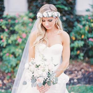 Bride with floral crown