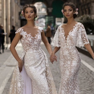 Tarik Ediz lace wedding dresses